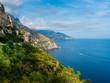 Italy, Campania, Gulf of Salerno, Sorrent, Amalfi Coast, Positano, cliff coast