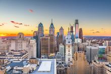 Philadelphia, Pennsylvania, USA Skyline At Center City