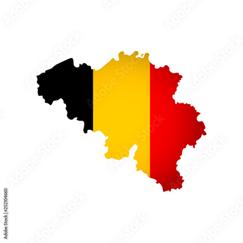 Fotografie, Obraz Vector isolated simplified illustration icon with silhouette of Belgium map