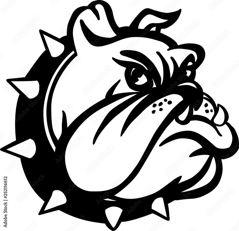 Fototapeta Bulldog Cartoon Vector Illustration