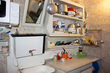 Kitchen Interior With Dishes I...