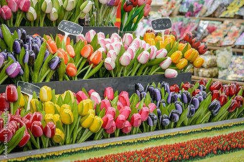 Photo  Flower shop in Bloemenmarkt, Amsterdam (Netherlands)