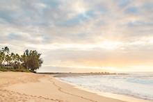 Ke Ike Beach Sunset Hawaii