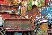 Rusting Metal Piled Together C...