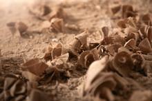 Wood Sawdust Closeup. Sawdust ...
