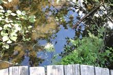 Pont En Bois Sur Le Bord De L'eau