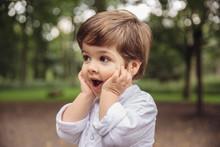 Toddler Making Surprised Face ...