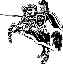 Mounted Knight Vector Illustra...