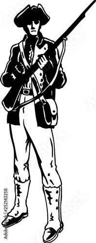 Fotomural  Minuteman Vector Illustration