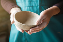 Pottery Making, Hands Holding ...