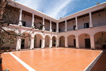 View Of The Interior Patio And Galleries Of The Historic City Cabildo (Chapter), Cordoba, Argentina.