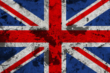 United Kingdom Flag On Old Wall