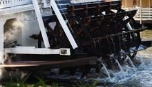 Old Steam Boat Riverwheel