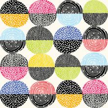 Texture,colorful,circle,fabric,modern,geometric,retro,ornament,fashion,textile,seamless,pattern,background,beautiful,birthday,bridal,collection,creative,decoration,folk,graphic,greeting,holiday,illust