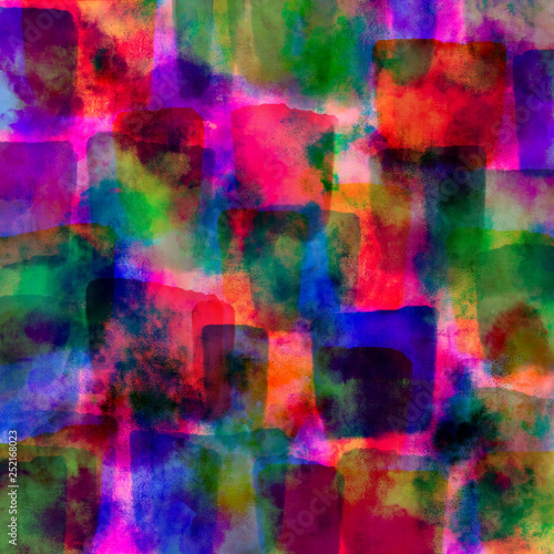 colorful watercolor pink blue and purple   abstract paint background wallpaper  design