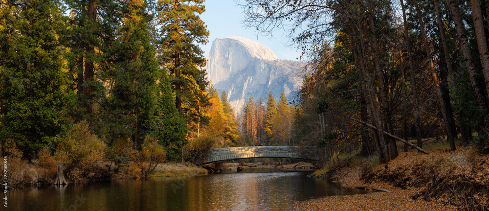 Beautiful American Landscape in Yosemite National Park, California, United States.
