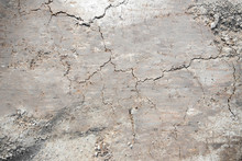 Gray Texture Ground. Surface Of Earth Pattern Wallpaper.
