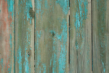 Wooden Background With Paint Residues And Rusty Nails. Abstract Background