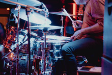 Unrecognizable Drummer In Concert