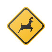 Wildlife Crossing Warning Sign