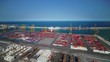 Aerial Spain Barcelona Shipping Yard June 2018 Sunny Day 15mm Wide Angle 4K Inspire 2 Prores Aerial video of downtown Barcelona and its shipping yards in Spain on a beautiful sunny day with a wide an