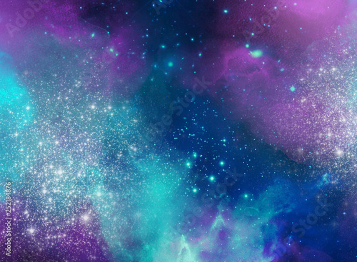 Holi abstract space background