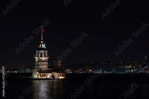 Maiden's Tower and istanbul night (KIZ KULESI – SALACAK-USKUDAR) © Serpil