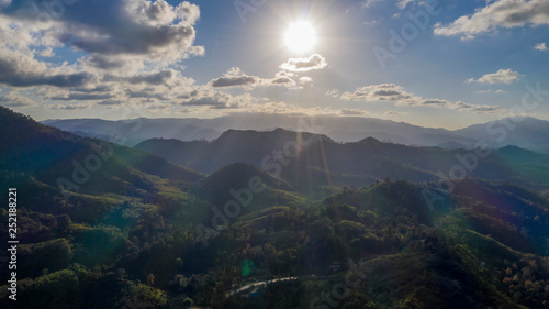 Poster Lieu connus d Asie Sunset in the mountains of Khao Luang national park