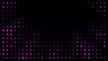 Festive Shiny Neon Background. Halftone Gradient Pattern Vector Illustration. Explosion, Salute. Pink Dotted, Purple Dark Halftone Texture. Pop Art Style Purple Pink Comics Background. Dots Background