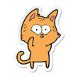 sticker of a cartoon cat