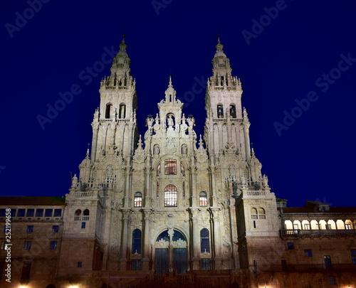 Cathedral, Santiago de Compostela, Spain. Night. Fototapete