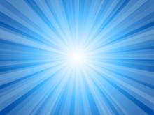 ブルー 放射状 キラキラ 背景