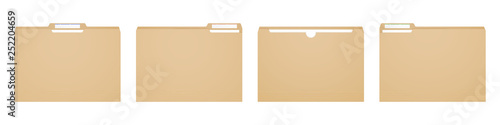 Fotografie, Obraz Manila folder for reports and archive cases.