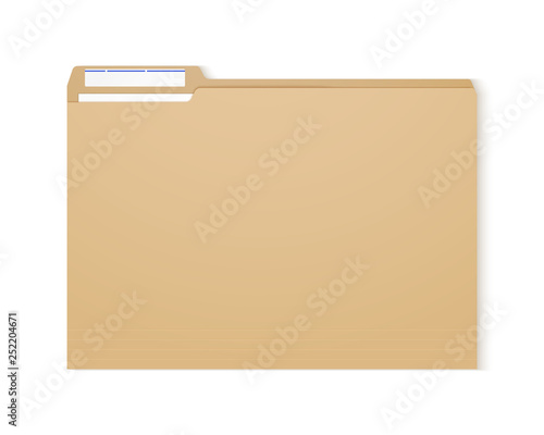 Photo Manila folder. Paper case archive for document and reports.