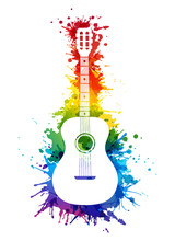 Creative Rainbow Musical Illus...