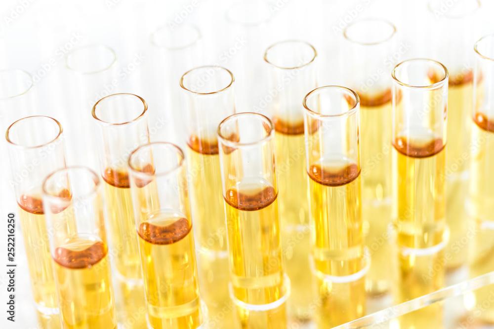 Photo  Reagenzgläser mit Flüssigkeit im Labor