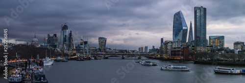 Staande foto London Panoramic view of the London and River Thames