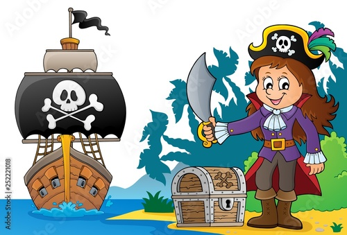 Pirate girl theme image 6