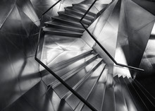 Spiral Staircase Metal Steel Modern Building Architecture Detail