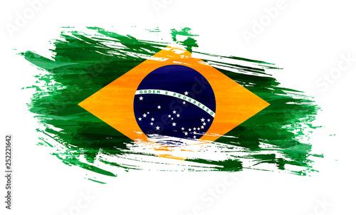 Obraz Grunge flag of Brazil - fototapety do salonu