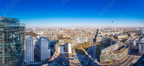 Obraz panoramic view at the city center of berlin - fototapety do salonu