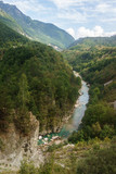 Picturesque wooded mountains in the canyon of the river Tara, Montenegro