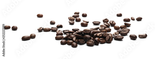 Photo sur Toile Café en grains Coffee beans isolated on white background