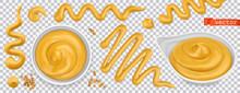 Mustard 3d Vector Realistic Set