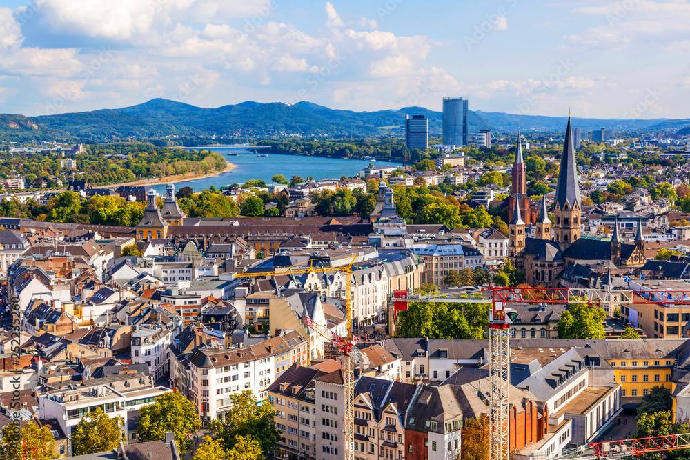 Fototapeta aerial of Bonn, the former capital of Germany
