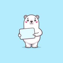 Worried Polar Bear Cartoon Cha...