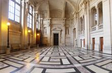 "Impressive Hall Inside The Parisian ""Palais De Justice"""