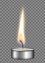 Realistic Candle Metal Case Fl...