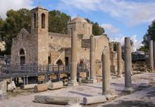 Saint Paul's Pillar And Agia Kyriaki, Paphos- Cyprus  UNESCO World Heritage