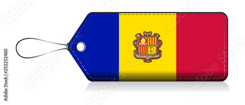 Andorra flag label, Tag of product made in Andorran Wallpaper Mural